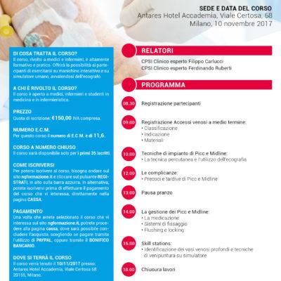 Corso Impianto Picc e Midline Milano 10 novembre 2017